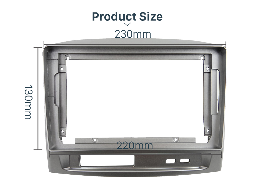 Seicane Fascia Panel Install Dash Bezel Trim Mount Kit For 9 inch 2004 TOYOTA VIOS OEM style