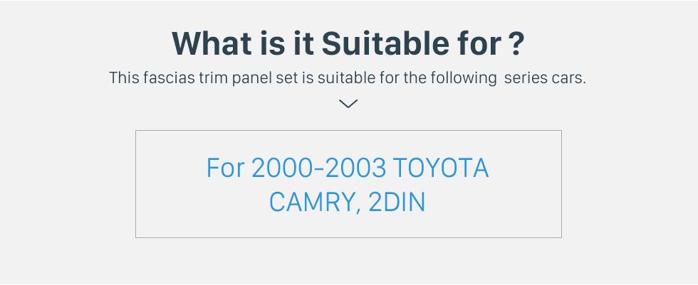 Seicane In Dash Car Radio Fascia Panel Bezel Trim kit Cover Trim For 9 inch 2000-2003 TOYOTA CAMRY OEM Style