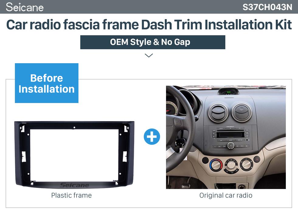 Seicane Double Din 9 inch 2006 Chevrolet Lova/Captiva/Gentra/ Aveo/Epica Fascia Frame Dash Mount Kit Trim Panel