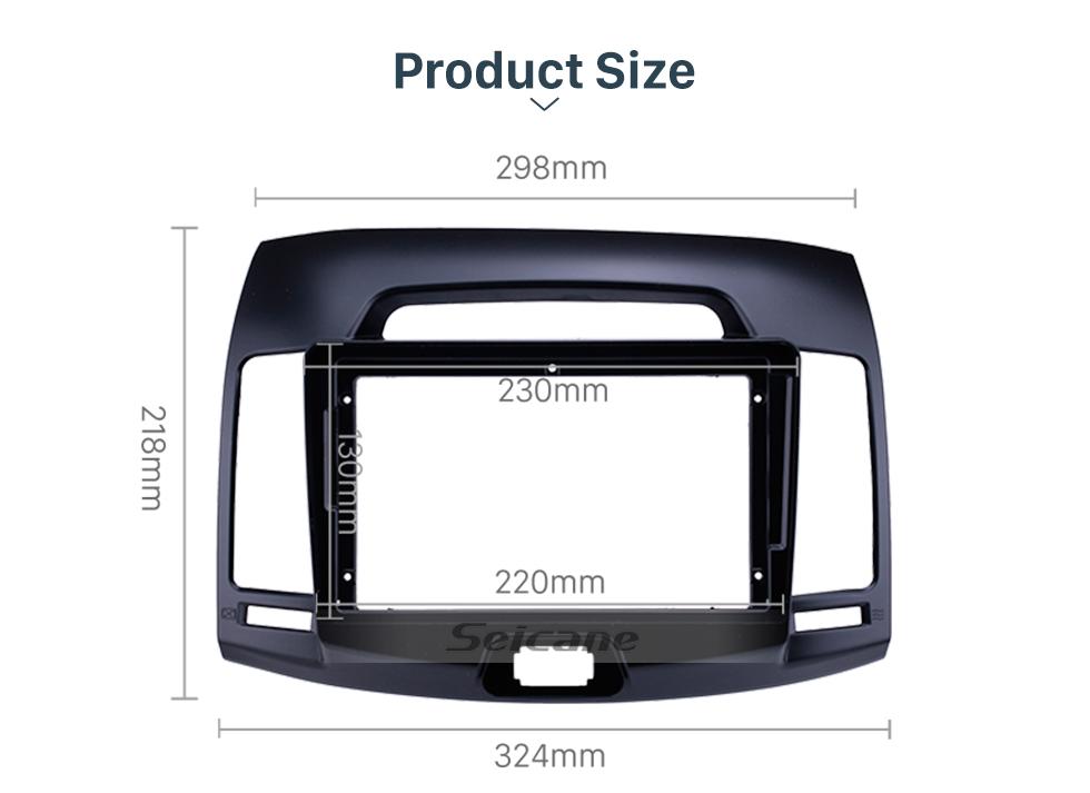 Seicane Double Din 9 inch For 2006-2011 HYUNDAI ELANTRA Fascia Frame Dash Mount Kit Trim Panel