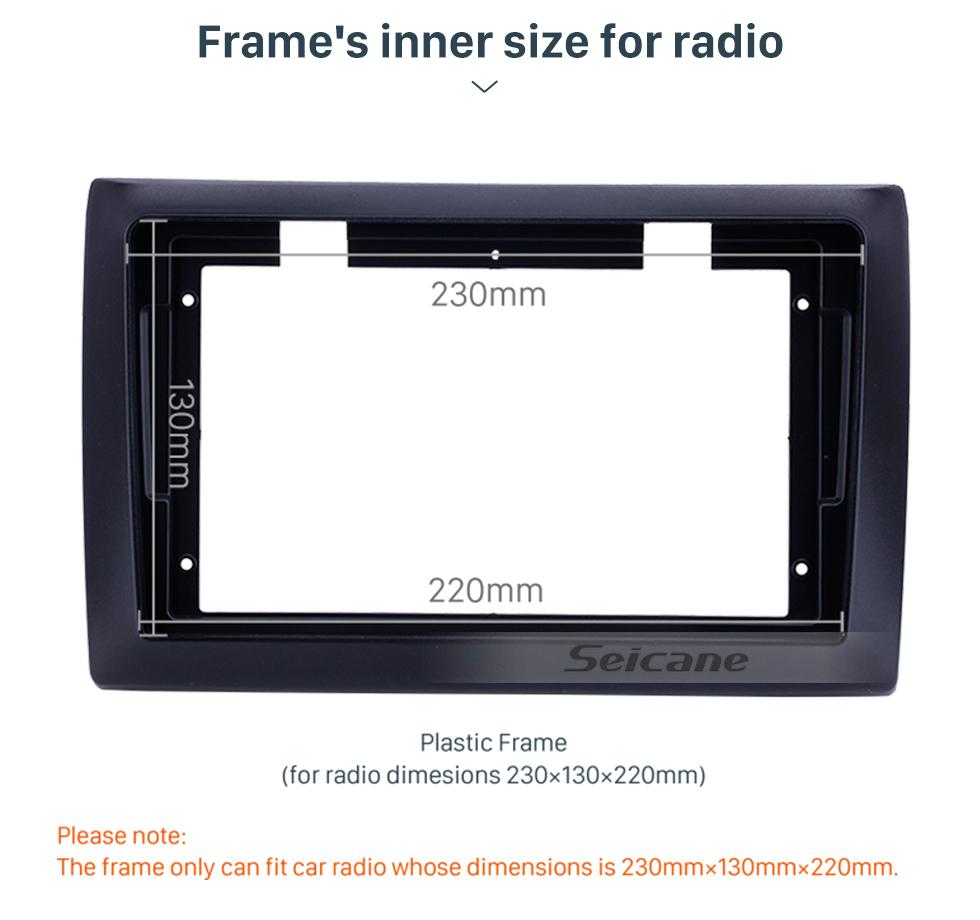 Seicane Double Din For 2010 Fiat Stilo Fascia Frame Dash Mount Kit Trim Panel