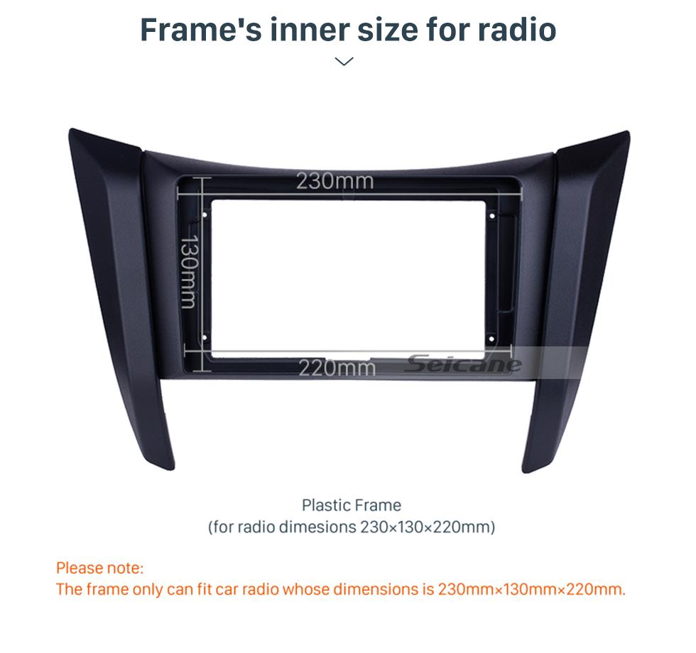 Seicane Double Din For 2017+ Nissan Navara/NP300/Frontier Fascia Frame Dash Mount Kit Trim Panel No gap