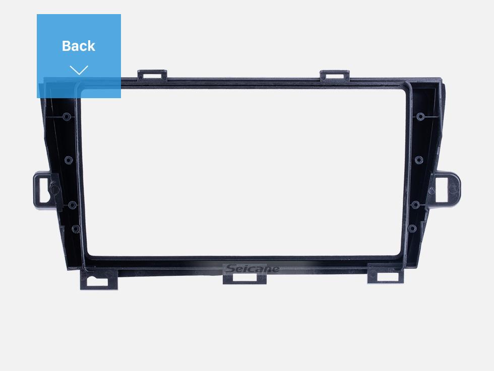 Seicane Silver Frame for 9 inch 2009-2013 TOYOTA PRIUS LHD Audio Dash Trim Fascia Panel Kit