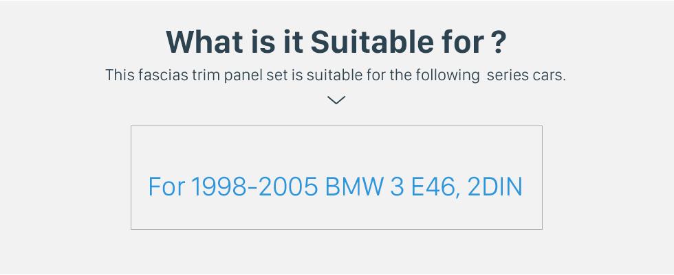 Seicane In Dash Fascia Panel Bezel Trim kit Cover Trim For 9 inch 1998-2005 BMW 3 Series E46 OEM Style