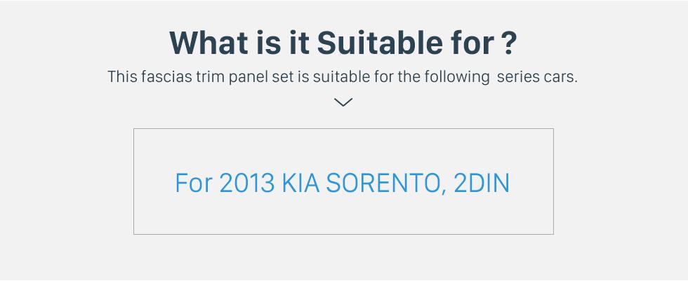 Seicane Fascia Panel Trim Frame Installation Kit For 2013 Kia Sorento OEM Style