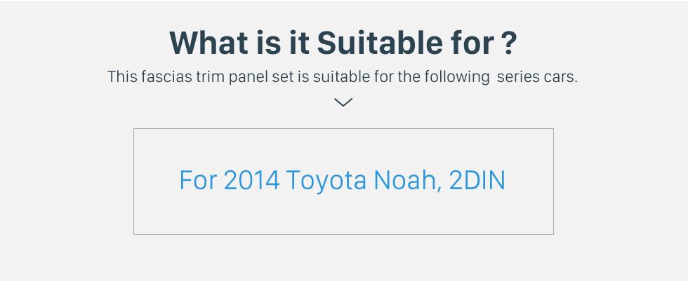 Seicane In Dash Fascia Panel Bezel Trim kit Cover Trim For 2014 Toyota Noah OEM Style
