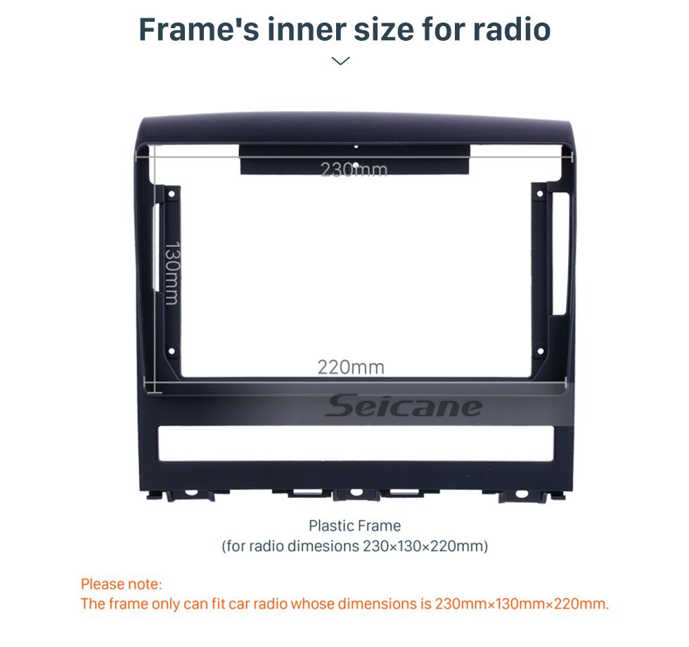 Seicane Double Din For 2009 FIAT PERLA Fascia Frame Dash Mount Kit Trim Panel