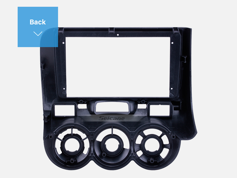 Seicane Gray Frame 9 inch for 2006 Honda Jazz Manual AC Audio Dash Trim Fascia Panel Kit