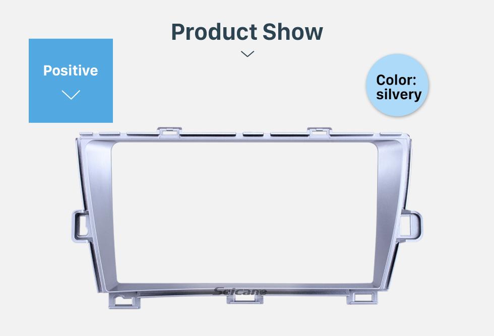 Seicane Silver Frame for 2010 Toyota Prius RHD Audio Dash Trim Fascia Panel Kit