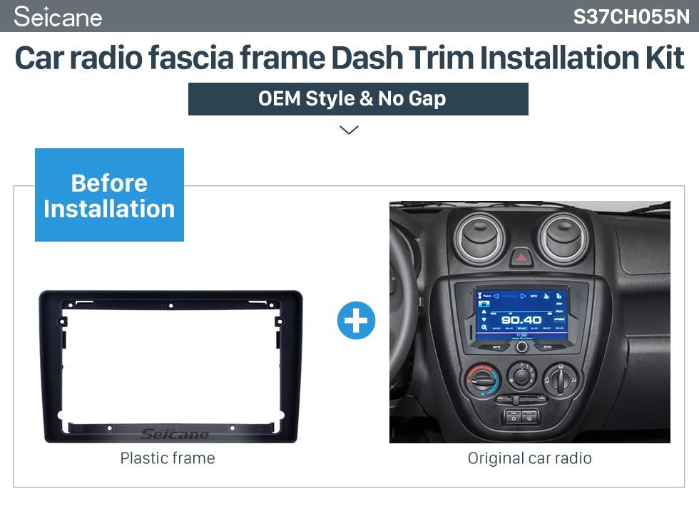 Seicane Double Din 9 inch For 2011-2017 Lada Granta Fascia Frame Dash Mount Kit Trim Panel