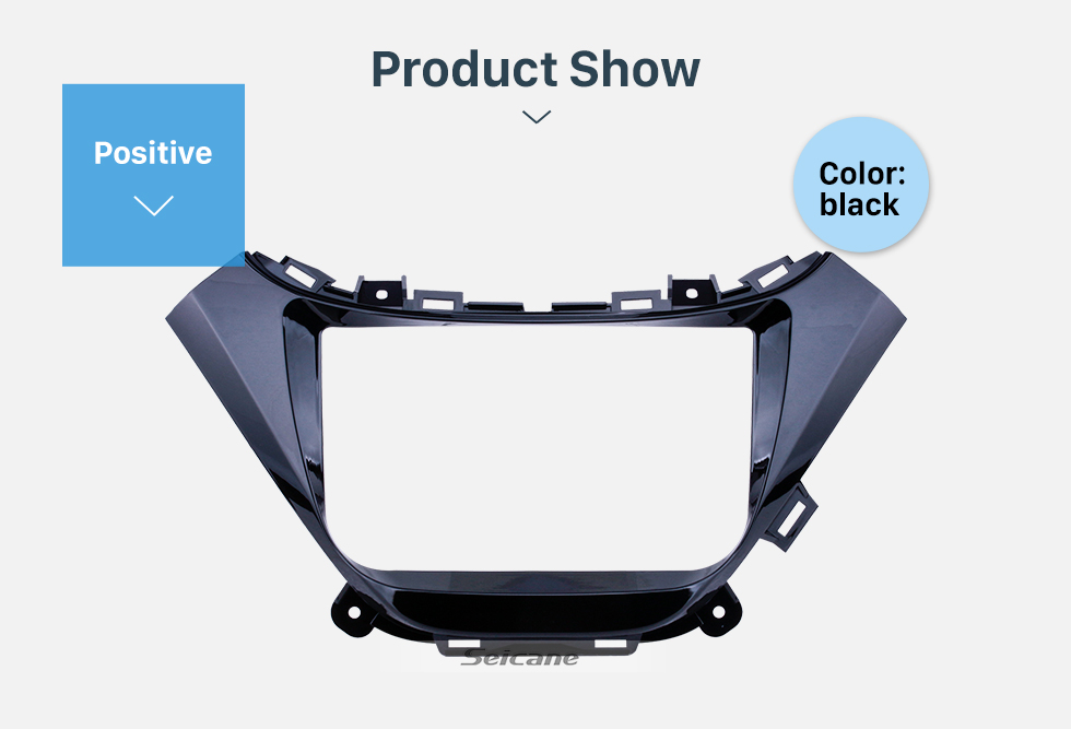 Seicane Black Frame 9 inch for 2015-2016 chevy Chevrolet malibu Audio Dash Trim Fascia Panel Kit