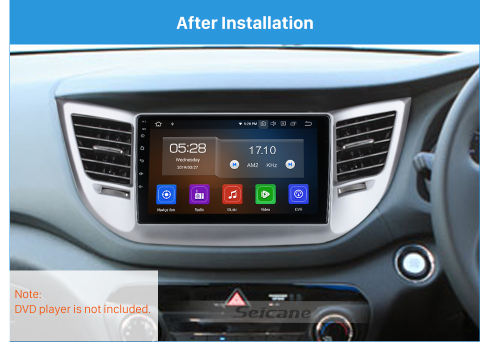 Seicane Cadre argenté UV pour kit de panneau de bordure de tableau de bord audio Honda Civic RHD 9 pouces 2005