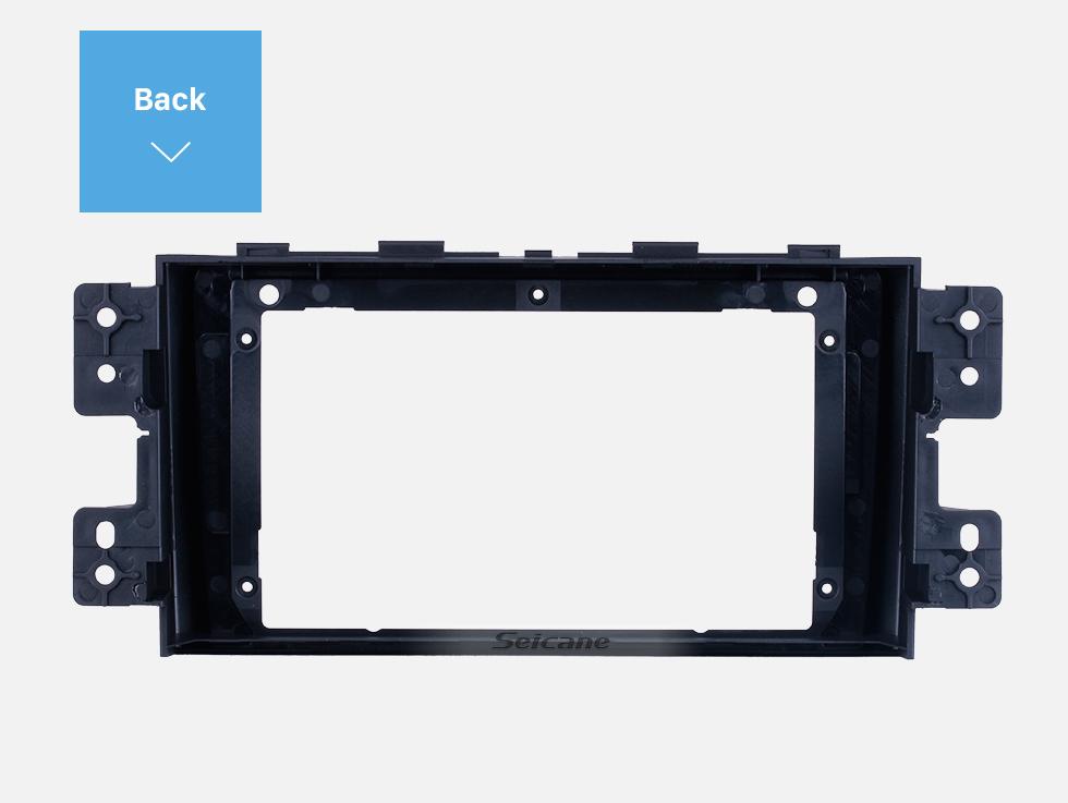 Seicane Black Frame for 9 inch 2008-2016 KIA BORREGO MOHAVE Audio Dash Trim Fascia Panel Kit