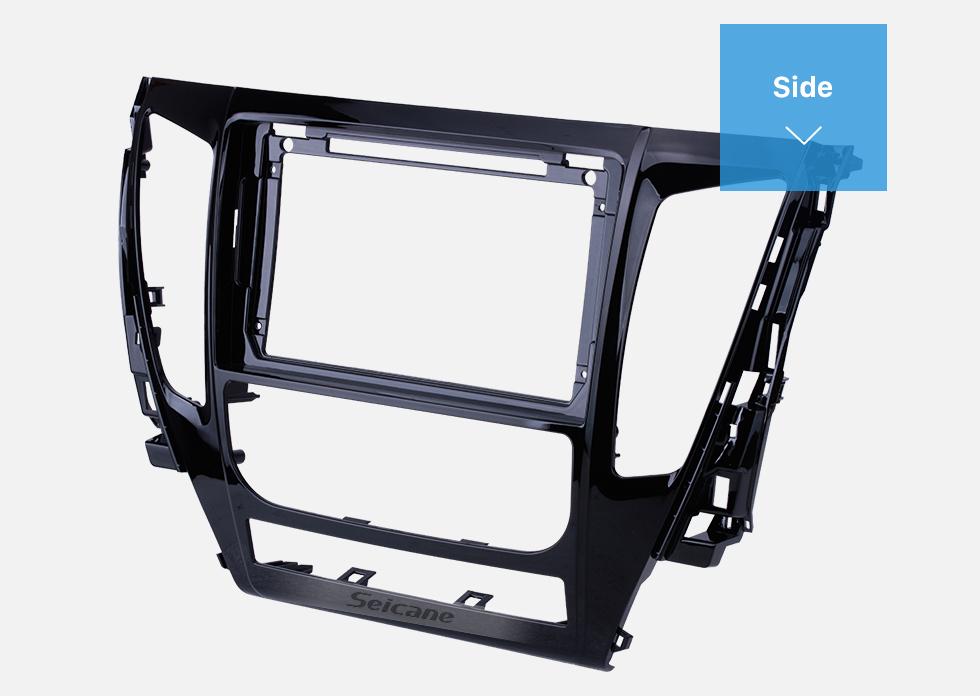 Seicane Double Din 9 inch For 2017 MITSUBISHI PAJERO Fascia Frame Dash Mount Kit Trim Panel