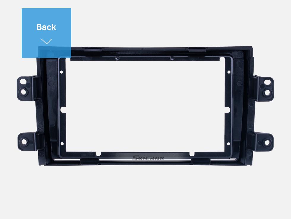 Seicane Double Din For 9 inch 2006-2012 SUZUKI SX4/ FIAT SEDICI Fascia Black Frame Dash Mount Kit Trim Panel
