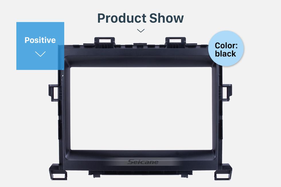 Seicane Black Frame 9 inch for 2008 TOYOTA ALPHARD/VELLFIRE ANH20 Audio Dash Trim Fascia Panel Kit
