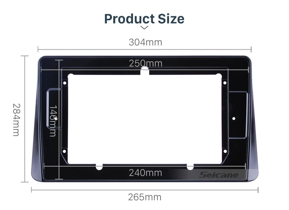 Seicane UV Black Frame 10.1 inch for MITSUBISHI ECLIPSE CROSS Audio Dash Trim Fascia Panel Kit