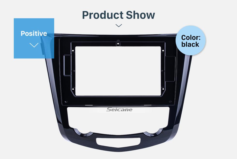 Seicane UV Black Frame for 10.1 inch 2014 NISSAN QashQai X-TRAIL AUTO A/C Audio Dash Trim Fascia Panel Kit
