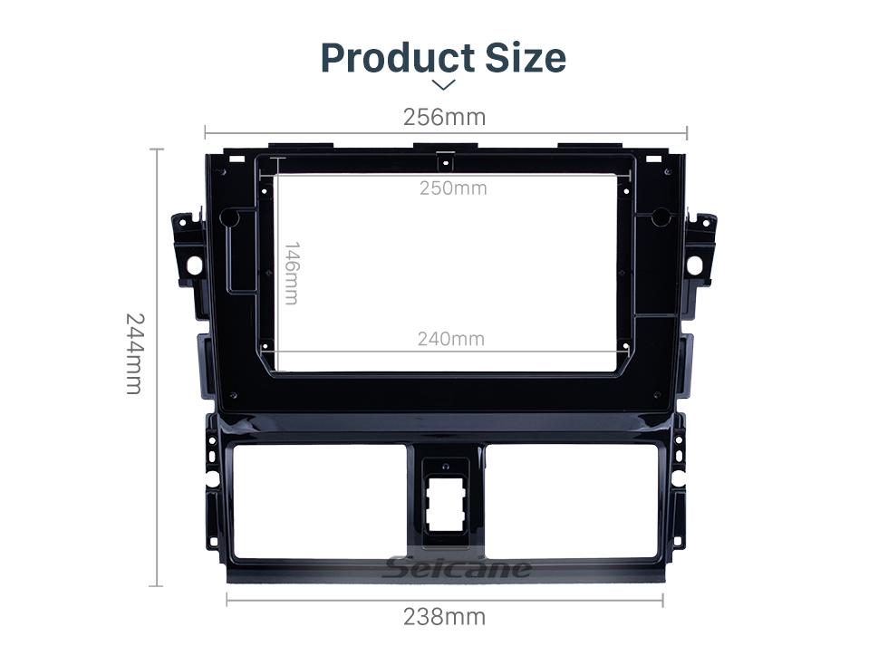 Seicane UV Black Frame for 10.1 inch 2013-2016 TOYOTA VIOS Audio Dash Trim Fascia Panel Kit