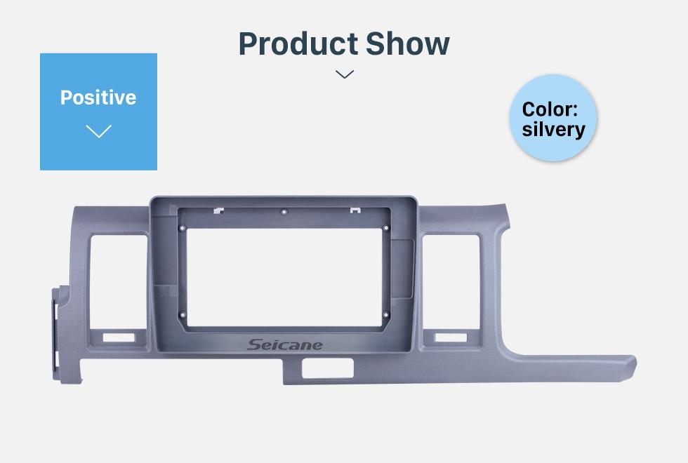 Seicane Silver Frame for 10.1 inch 2010-2018 TOYOTA HIACE RHD Audio Dash Trim Fascia Panel Kit