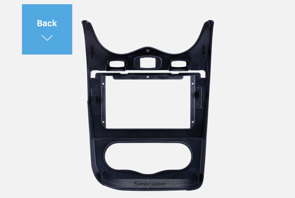 Seicane In Dash Fascia Panel Bezel Trim kit Cover Trim 10.1 inch for 2013 RENAULT SANDERO OEM Style