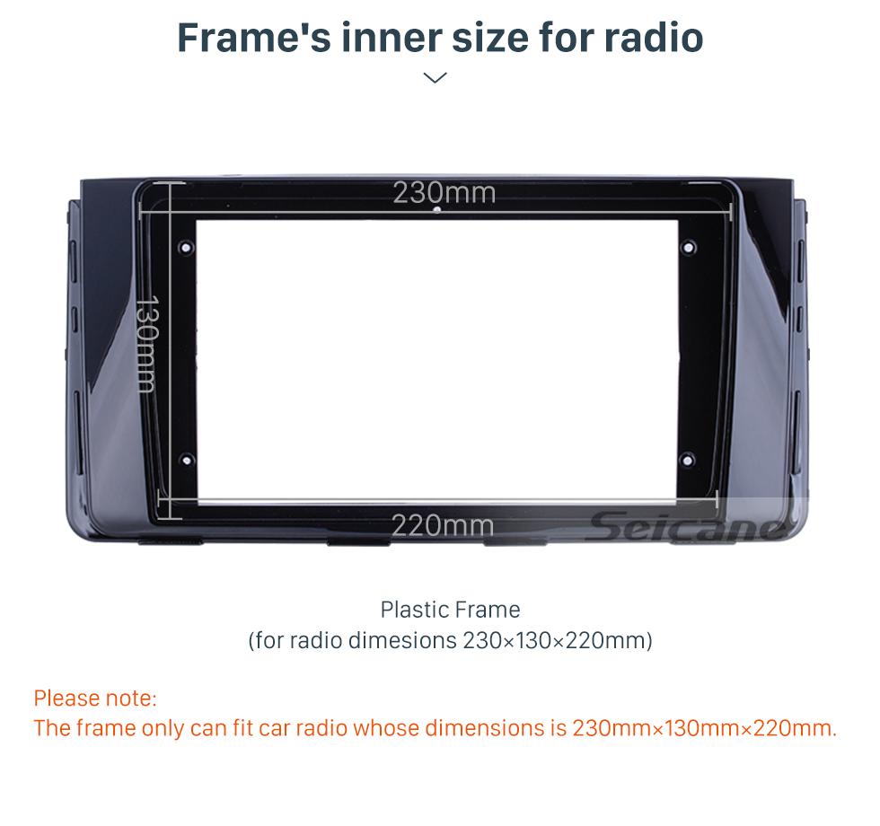 Seicane UV Black Frame 9 inch for 2016 HYUNDAI H350 Audio Dash Trim Fascia Panel Kit