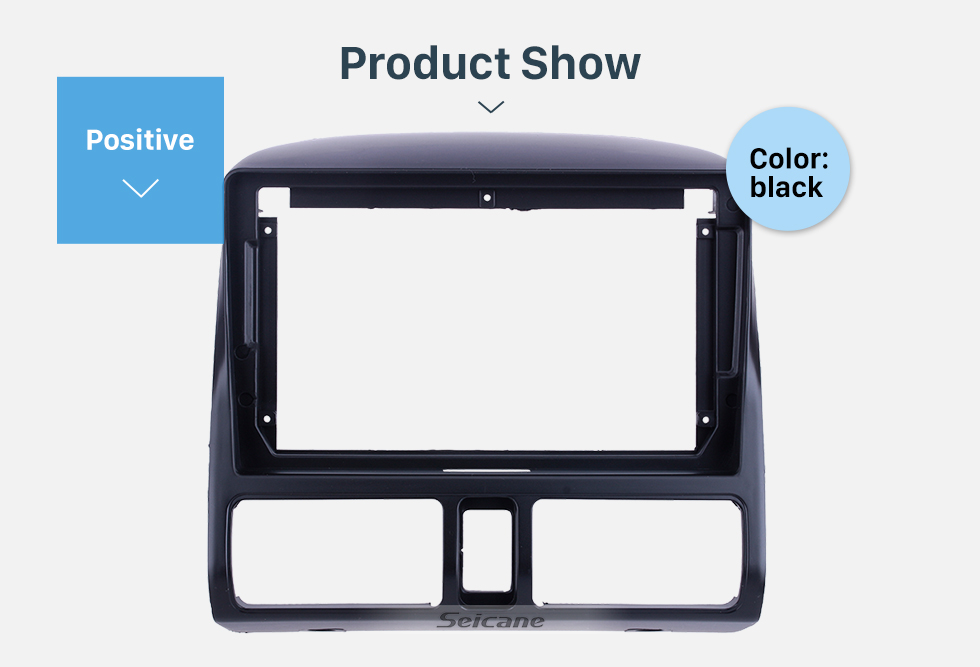 Seicane Fascia Black Frame 9 inch for 2002 HONDA CRV Dash Mount Kit Trim Panel No gap