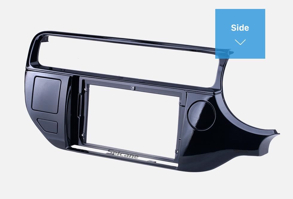 Seicane Quadro preto da fáscia para 9 polegadas 2009-2010 Hyundai Sonata Nfc Dash Mount Kit Painel de acabamento