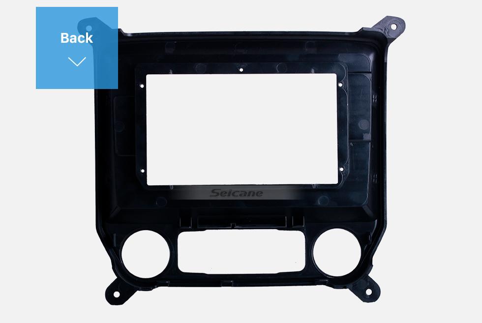 Seicane Black Frame for 10.1 inch 2014-2018 Chevy CHEVROLET SILVERADO Audio Dash Trim Fascia Panel Kit