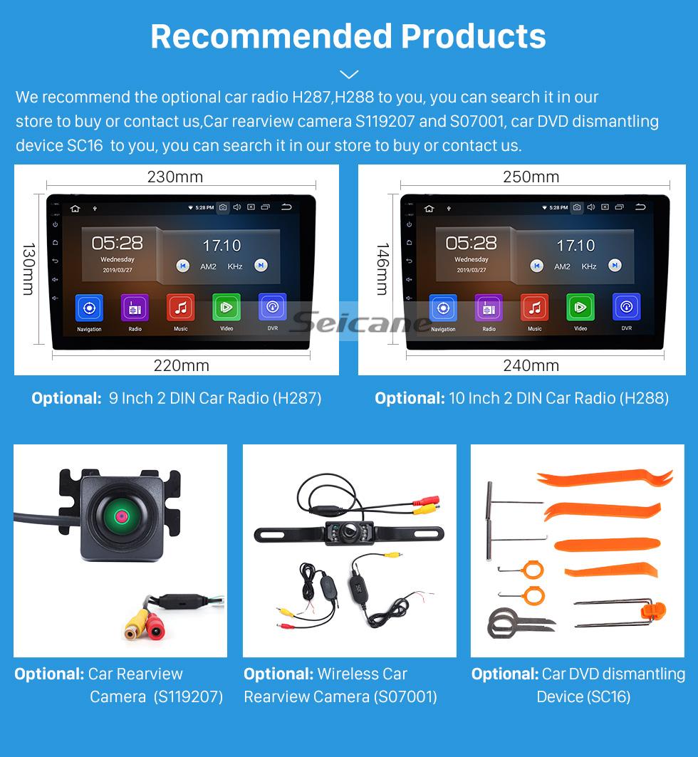 Seicane UV Black Frame for 9 inch 2018 HONDA ELYSION LHD Audio Dash Trim Fascia Panel Kit