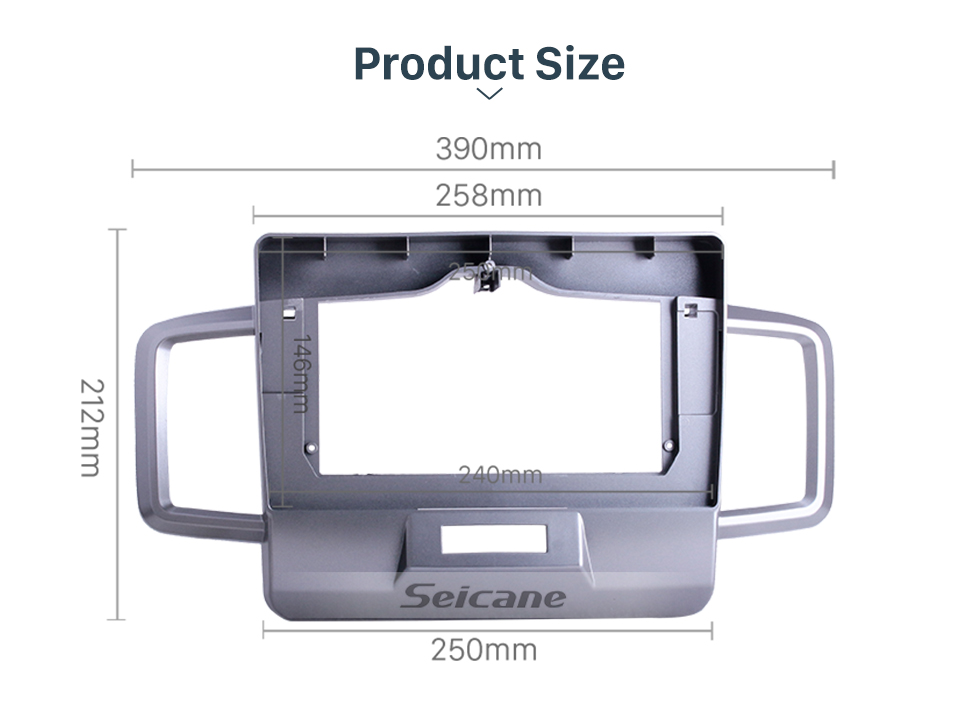 Seicane Double Din For 10.1 inch 2011-2014 HONDA FREED Silver Frame Dash Mount Kit Trim Panel