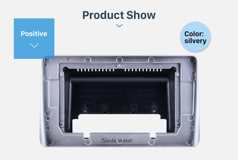 Seicane Fascia Black Frame für 10,1 Zoll 2020 Mitsubishi ASX Dash Mount Kit Verkleidung Keine Lücke