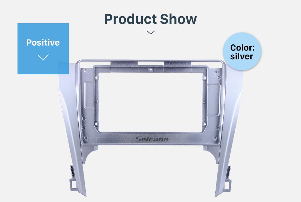 Seicane Silver Frame for 10.1 inch 2012-2015 TOYOTA CAMRY Audio Dash Trim Fascia Panel Kit