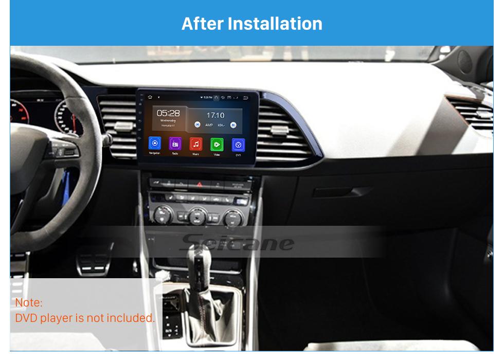 Seicane Black Frame for 9 inch 2018 Seat Leon LHD Audio Dash Trim Fascia Panel Kit