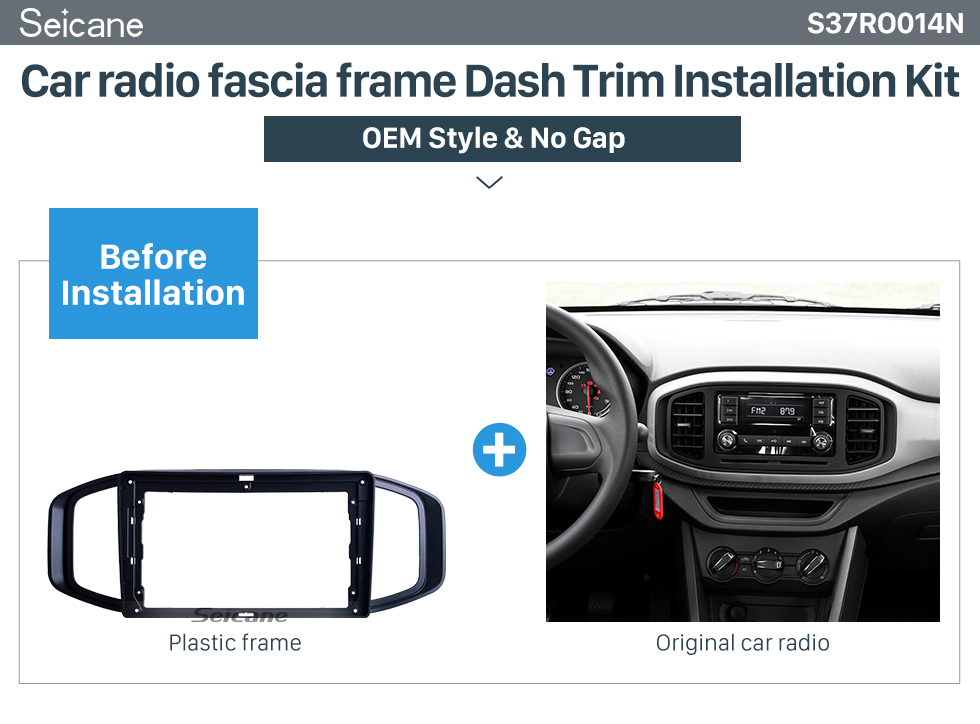Seicane In Dash Black Frame For 9 inch 2017 ROVER MG3 Fascia Panel Bezel Trim kit Cover Trim OEM Style