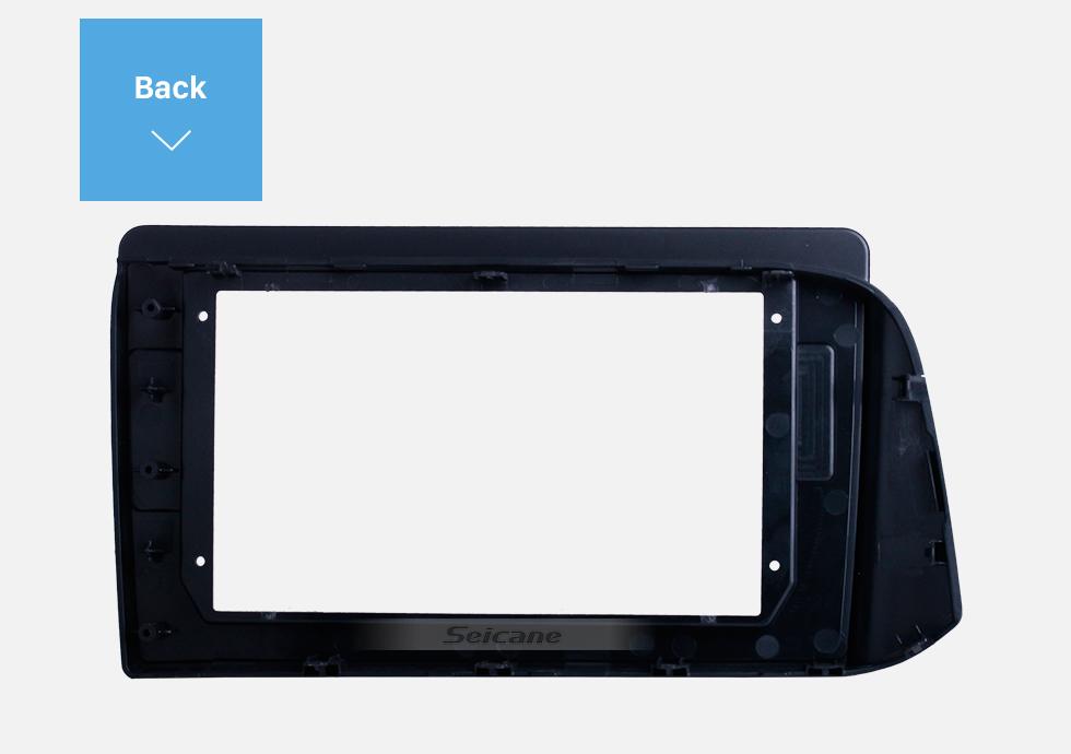 Seicane Black Frame for 10.1 inch 2019 HYUNDAI I-10 RHD Audio Dash Trim Fascia Panel Kit