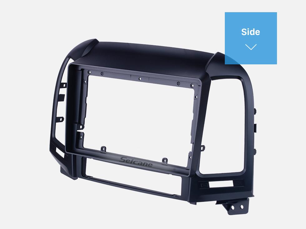 Seicane Black Frame for 9 inch 2005-2012 HYUNDAI SANTAFE LHD Audio Dash Trim Fascia Panel Kit