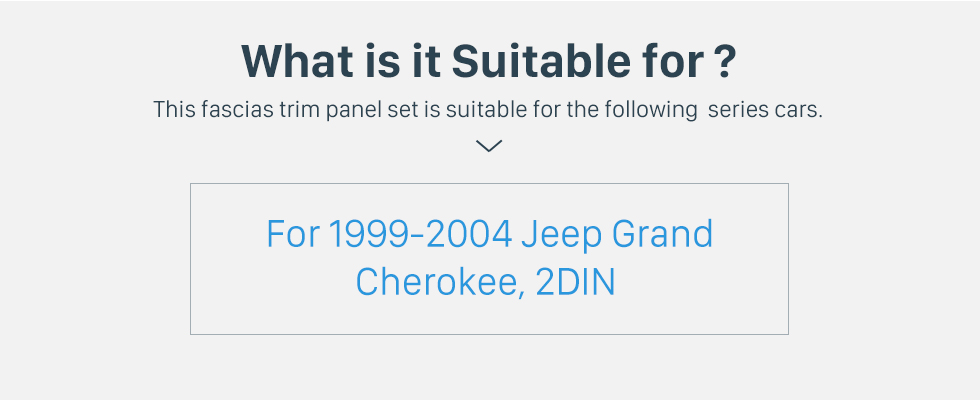 Seicane Fascia Black Frame for 7 inch 1999-2004 Jeep Grand Cherokee Dash Mount Kit Trim Panel No gap