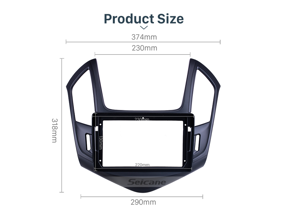 Seicane In Dash Black Frame For 9 inch 2013 Chevy Chevrolet Cruze Fascia Panel Bezel Trim kit Cover Trim OEM Style