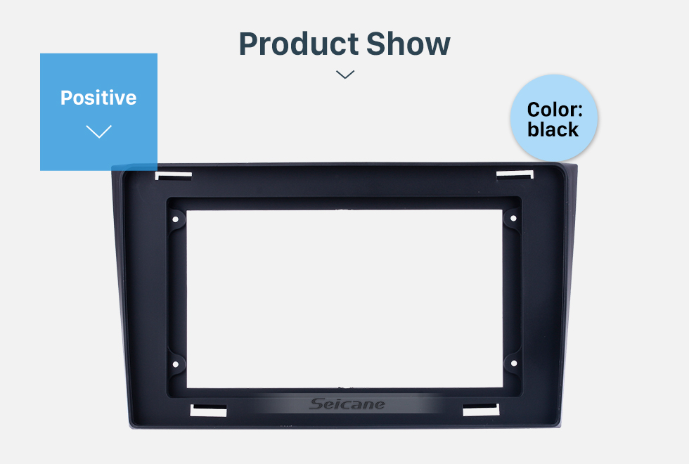 Seicane Fascia Black Frame for 10.1 inch 2009 Mazda CX-9 Dash Mount Kit Trim Panel No gap