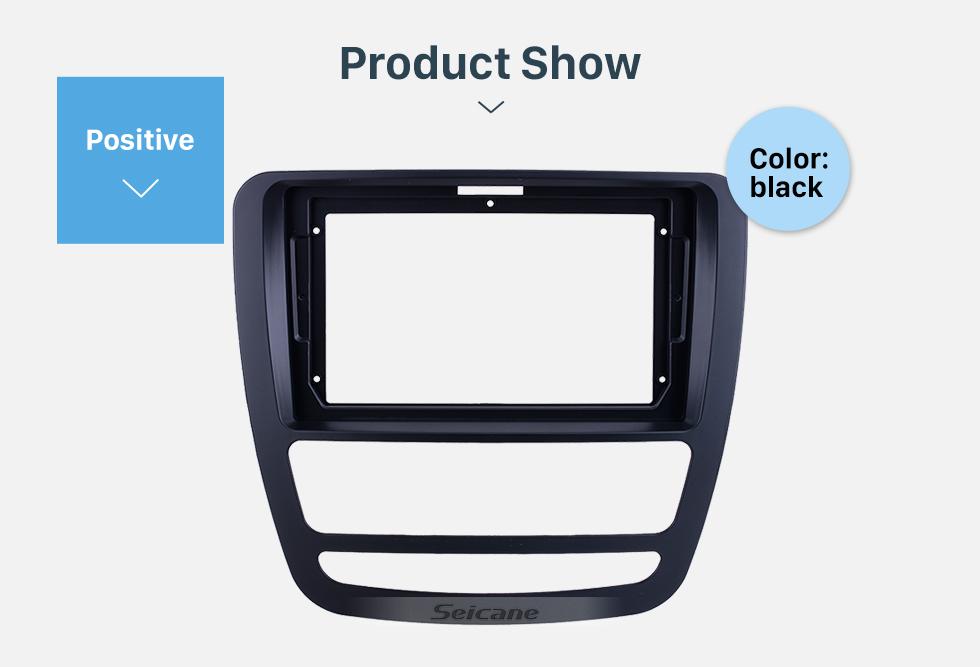 Seicane Fascia Black Frame for 9 inch 2018+ JAC T6/T8 Dash Mount Kit Trim Panel No gap