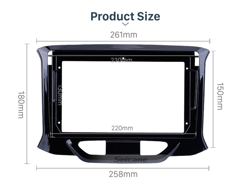 Seicane In Dash Black Frame For 9 inch 2015-2019 Lada Xray Fascia Panel Bezel Trim kit Cover Trim OEM Style