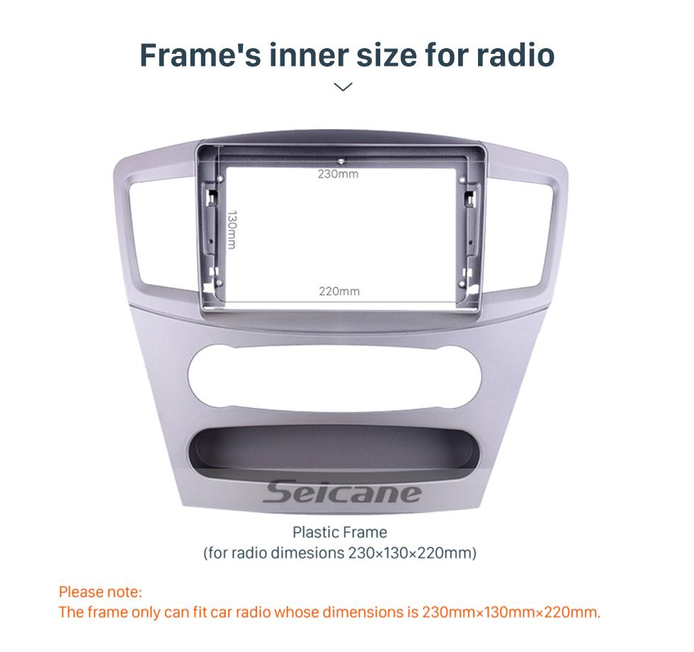Seicane Silver Frame for 9 inch 2010 Mitsubishi Galant Audio Dash Trim Fascia Panel Kit