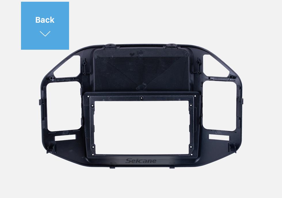 Seicane Double Din For 9 inch 2004-2011 Mitsubishi V73 Pajero Fascia Black Frame Dash Mount Kit Trim Panel