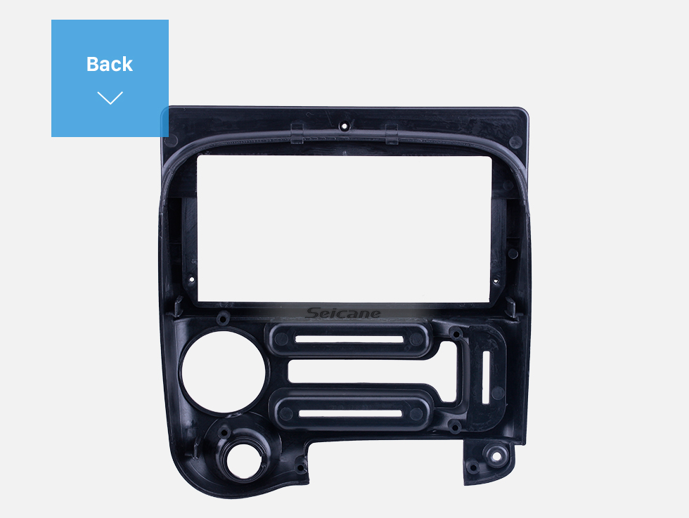 Seicane Double Din For 9 inch 2006-2015 Hyundai Santro Black Frame Dash Mount Kit Trim Panel