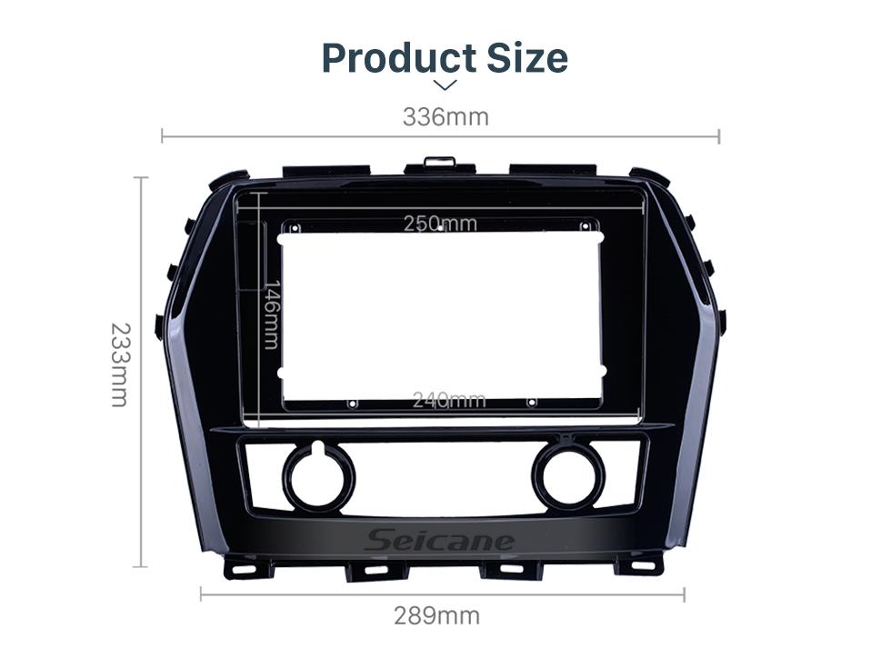 Seicane In Dash Black Frame For 10.1 inch 2016+ Nissan Teana/Maxima Fascia Panel Bezel Trim kit Cover Trim OEM Style