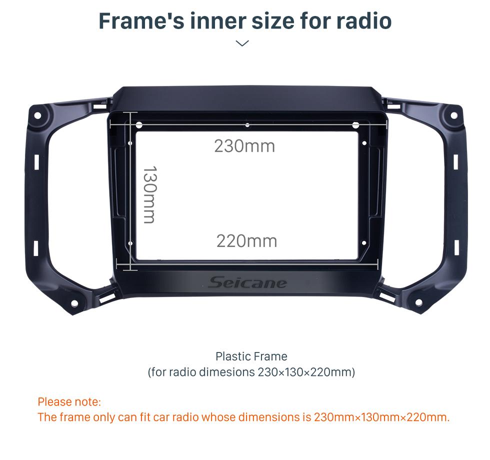 Seicane Quadro preto para 9 polegadas 2017 Chevy Chevrolet Colorado / Trailblazer Audio Dash Trim Fascia Panel Kit
