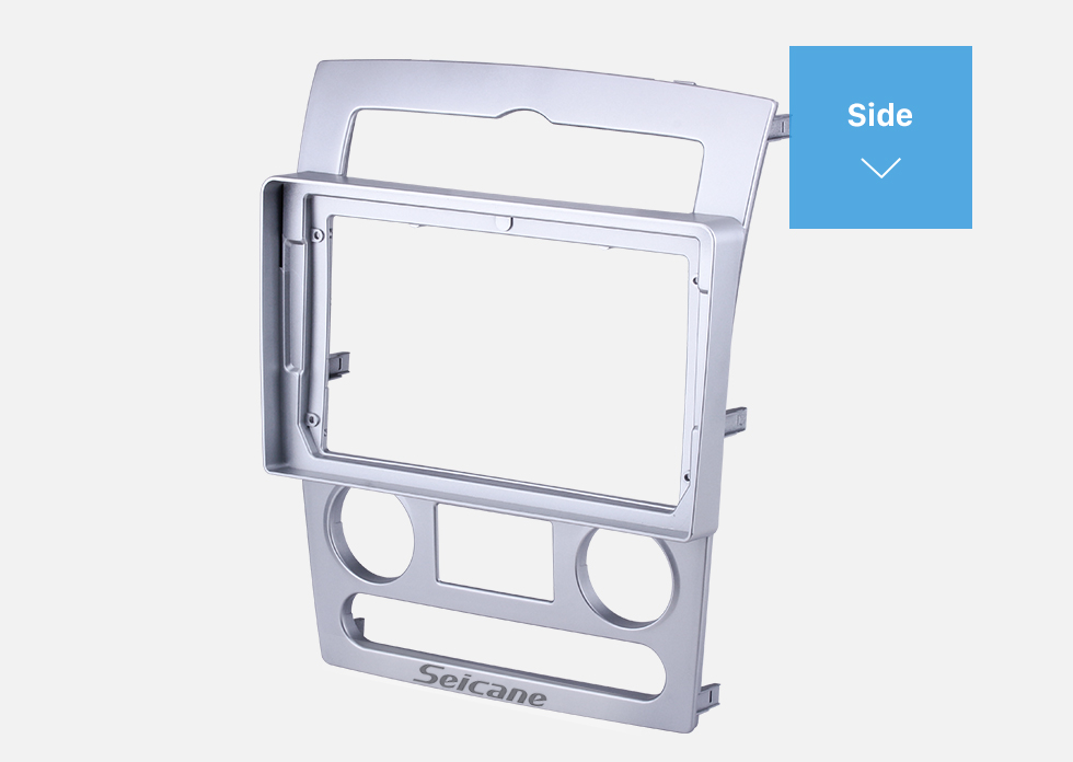 Seicane Double Din pour 9 pouces 2007-2015 Hyundai Starex Fascia Silver Frame Dash Mount Kit Trim Trim Panel