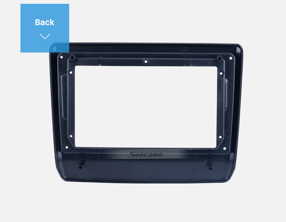 Seicane Quadro preto da fáscia para 9 polegadas 2020 Isuzu D-Max Dash Kit de montagem no painel de acabamento