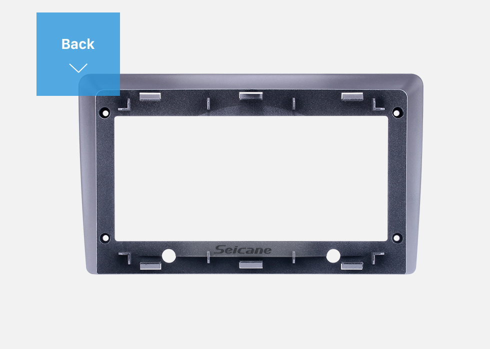 Seicane Double Din For 9 inch 2007-2015 Hyundai Starex Fascia Silver Frame Dash Mount Kit Trim Panel